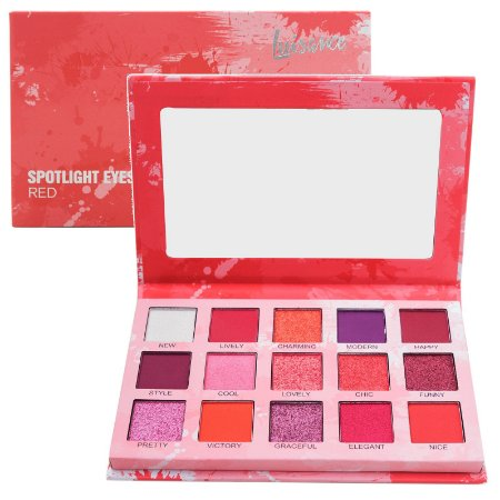 Paleta de Sombras Spotlight Luisance L2037 Red - Display C/12 Unid