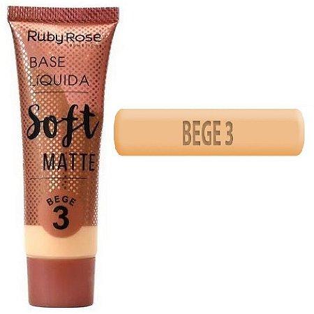 Base Soft Matte Ruby Rose ( Bege 3 ) - Unitaria