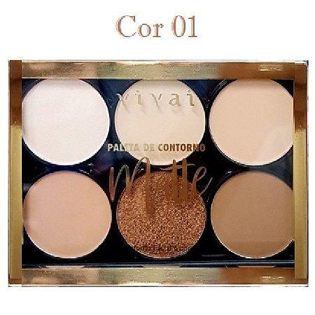 Paleta de Pó de COntorno Facial Vivai 1052 - Cor 01