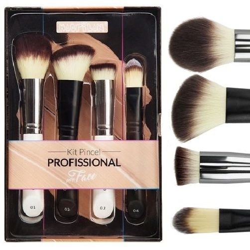 Kit Pincel Profissional para a Face Macrilan WB200 - 04 Kits