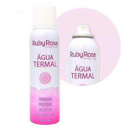 Água Termal Ruby Rose com fragrância de Coco HB305 - Kit C/ 6 Unid