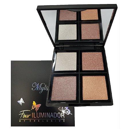 Paleta de Iluminador Facial de Luxo com Espelho Mylife MY8255 - Cor 01