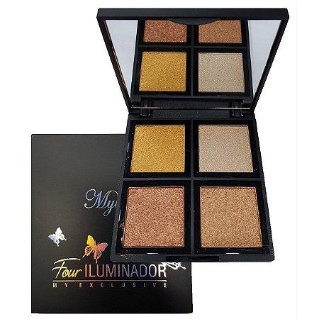 MyLife - Paleta de Iluminador Facial de Luxo com Espelho  MY8255 - Cor 02