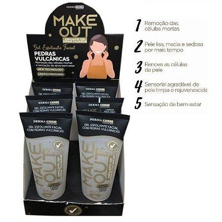 Gel Esfoliante Facial Make Out Dermachem Laboratory - Pedras Vulcanicas - Display com 6 unidades