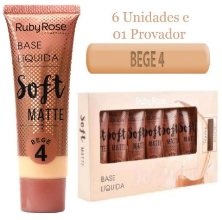 Base Soft Matte Ruby Rose Bege 4  ( Kit C/6 Unid e Prov )