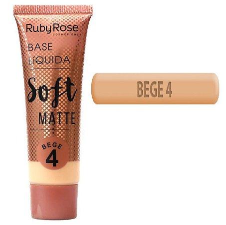 Ruby Rose - Base Soft Matte  Bege 4 - Unitario