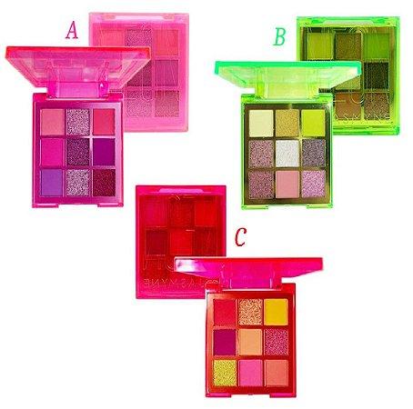 Paleta de Sombras Neon Jasmyne JS06052 - Kit C/ 12 Unid ( A, B e C )