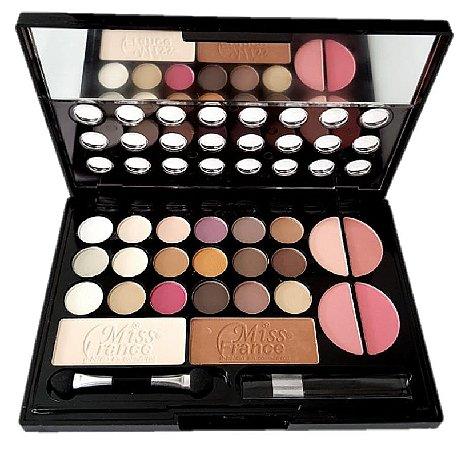 Kit de Maquiagem 18 Sombras, 4 Blush, 2 Pó Miss France MF7199 ( Cor 02 )