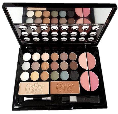 Kit de Maquiagem 18 Sombras, 4 Blush, 2 Pó Miss France MF7199 ( Cor 04 )