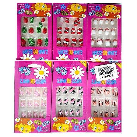 12 Unhas Postiças Infantis TAM1805  ( Pacote C/12 Caixas )