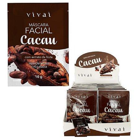 Mascara Facial Cacau Nutrição Intensa Vivai 5044  - Display C/48 unid
