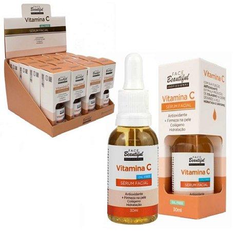 Sérum Facial Antioxidant/e Vitamina C Oil Free Face Beautiful FB176 - Display com 16 unidades