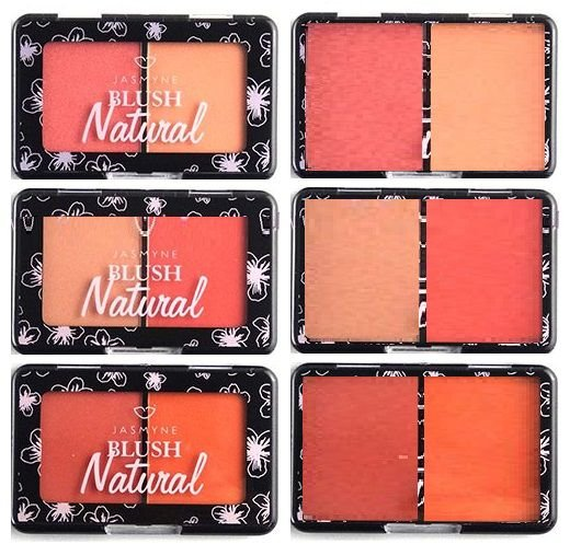Duo de Blush Natural Jasmyne JS03015 - Kit C/ 3 Unid