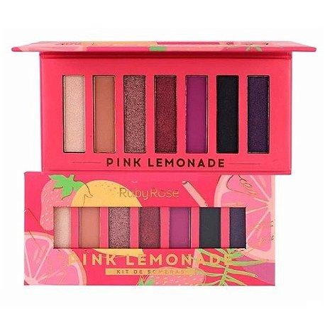 Paleta de Sombras Pink Lemonade Ruby Rose HB1056 - Display C/ 12 Unid