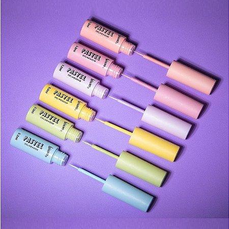 Delineador Liquido Pastel 6 Cores Luisance L3163 - Display C/ 24 Unid