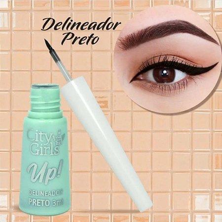 Delineador Liquido Preto Up City Girl CGN013 - Unitario
