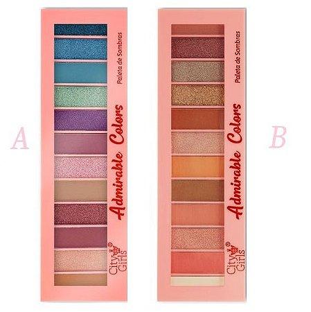 Paleta de Sombras 12 Cores Adorable Colors CG183 - Display C/ 24 Unid