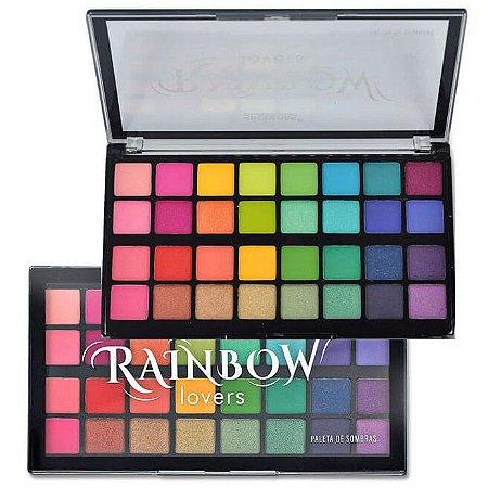 Paleta de Sombras 32 Cores Rainbow Lovers SP186 - Display C/ 4 Unid