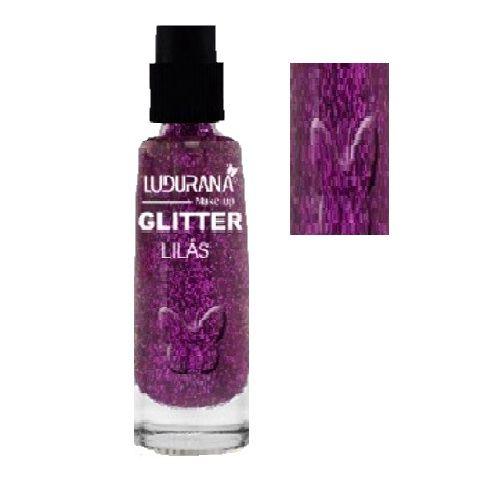 Sombra Glitter Solto em Pó Ludurana - Cor lilás ( Vencimento 04/21 )