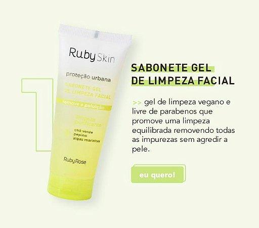 Sabonete Gel De Limpeza Proteção Urbana Skin Care Ruby Rose  HB326