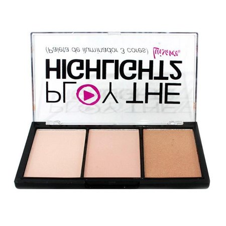 Paleta de Iluminador 3 Cores Play The Highlight2 Luisance L3008