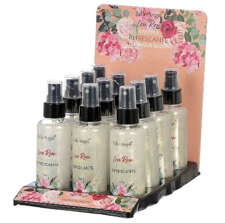 Bruma Refrescante Luminous Glow Love Rose Belle Angel T060 - Display com 12 unidades