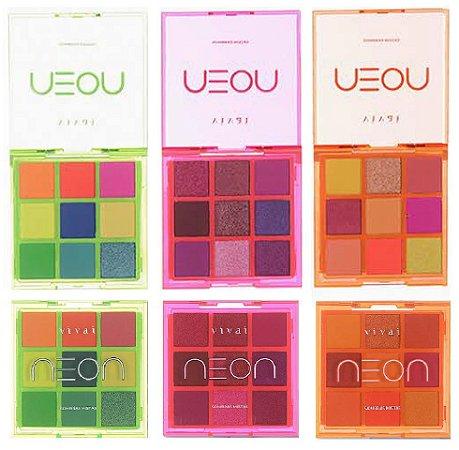 Paleta de Sombras Neon Vivai 4035 - Kit C/ 3 Unidades