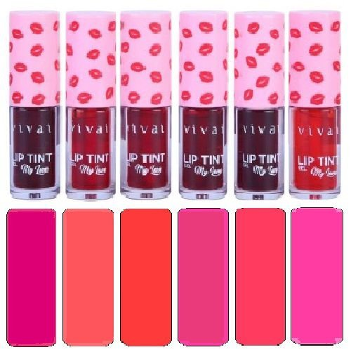 Lip Tint Gel 6 Cores Vivai 3080 - Kit C/ 6 Unidades