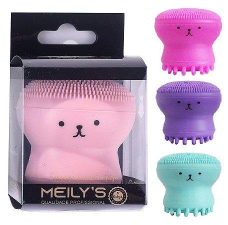 Meily´s - Esponja para Limpeza e Massagem Facial Polvo  MAC260