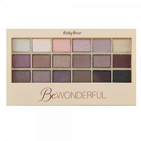 Paleta de Sombras Ruby Rose Be Wonderful 18 Cores HB9925