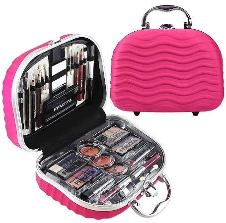 Fenzza - Maleta de Maquiagem Completa Rosê FZ60005