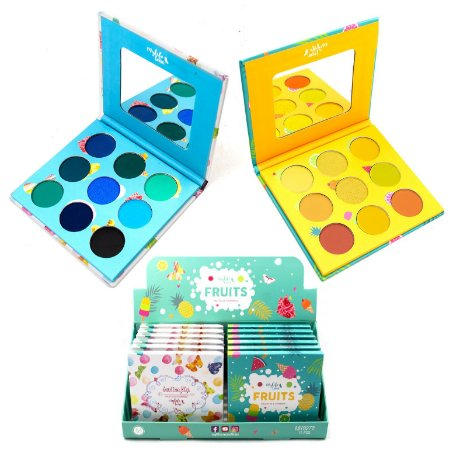 Paleta de 9 Sombras Fruits Mylife MY8272A - Display com 12 unidades