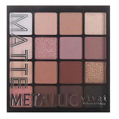 Vivai - Nova Coleção Paleta de Sombras Matte Metalic 2193 - Cor 2