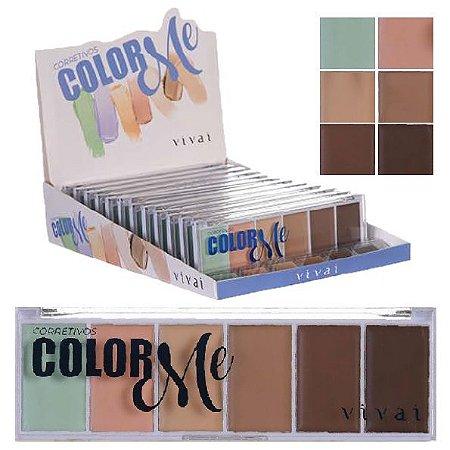 Paleta de Corretivo Facial Color Me Vivai 4032 - Display C/ 12 Unid