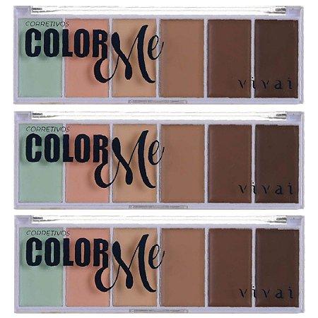 Vivai - Paleta de Corretivo Facial Color Me  4032 - Kit C/ 3 Unid