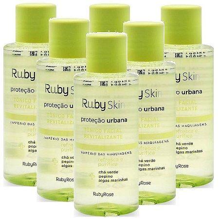 Tônico Facial Proteção Urbana Skin Care Ruby Rose HB331 - Kit C/ 6 Unid