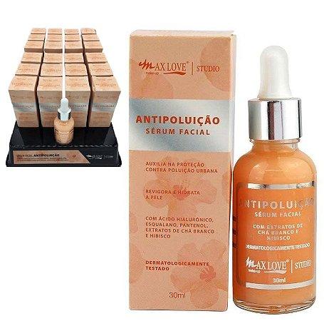 Serum Facial Hidratante Antipoluição Max love - Display com 24 Unid + prov