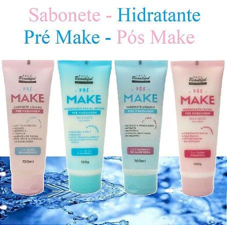 Kit Pré e Pós Make Face Beautiful - 4 Itens ( FB179 - FB180 - FB181 - FB182 )