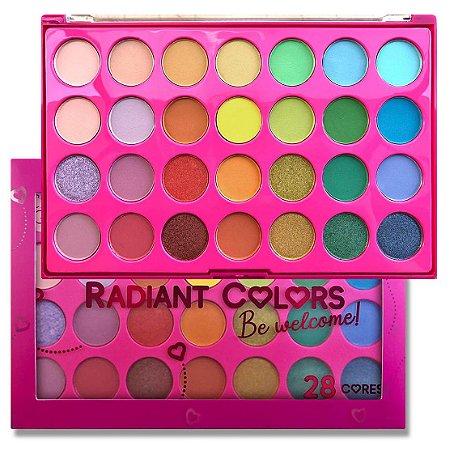 Paleta de Sombras Radiant Color BE Welcome CG204 - Kit com 4 Unidades