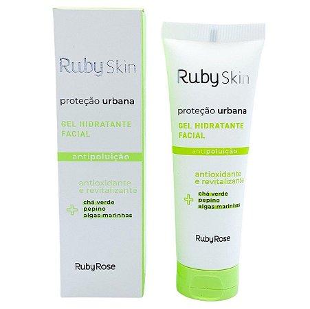 Gel hidratante facial antioxidante e revitalizante antipoluição Proteção Urbana Ruby Rose HB406