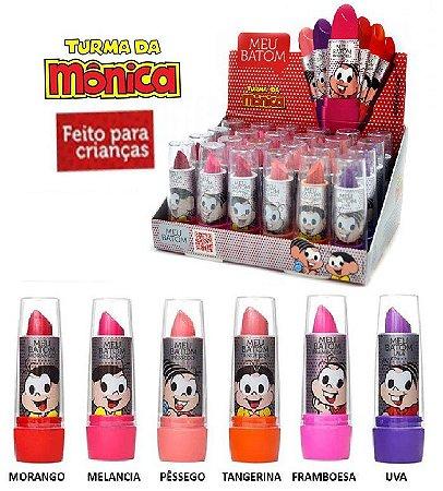 Turma da Monica - Batom Bastão Infantil Meu Batom ( Hipoalêrgenico ) - Display com 24 unidades