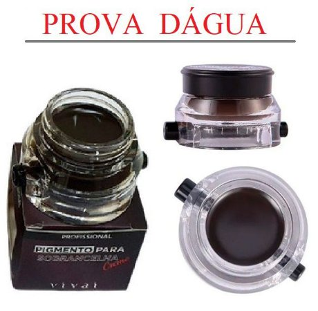 Pigmento para Sobrancelhas a Prova D'Água com Pincel Vivai 4021 - Cor 3