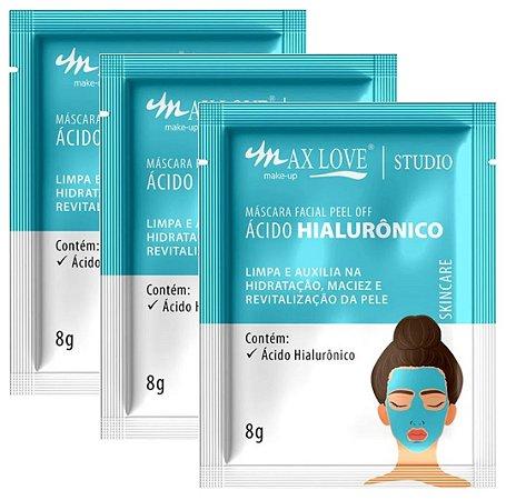 Mascara Facial Peel Of Acido HIaluronico Max love Sache  - Display C/ 60 Unid