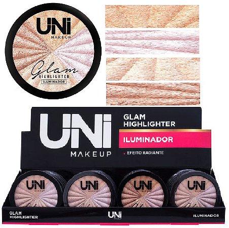 Uni Makeup -  Iluminador Glam HIghlighter  - Display C/24 Unid