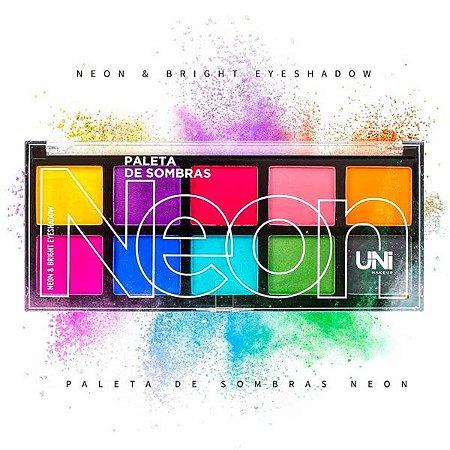 Paleta de Sombras Neon e Bright Uni Makeup