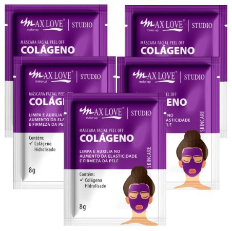 Mascara Facial Peel Of Colágeno Max Love - Display C/ 60 Unid