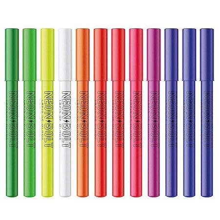 Lapis de Olhos Neon Bolt 12 Cores Bella Femme BF10094 – 12 Unidades ( 1 cada cor )