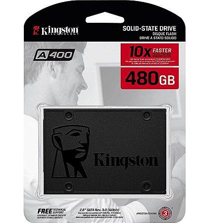 """SSD Kingston A400 480GB 2.5"""" Sata 3 SA400S37/480G"""