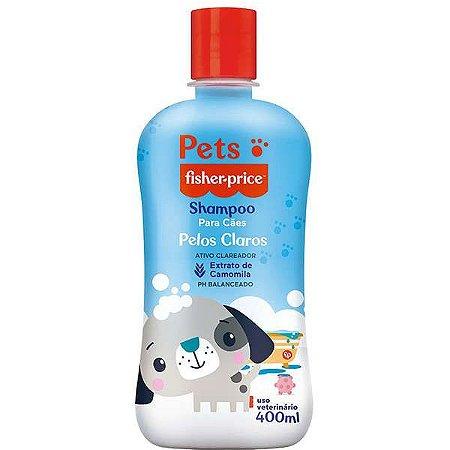 Shampoo Pets Para Cães de Pelos Claros Fisher Price 400ml