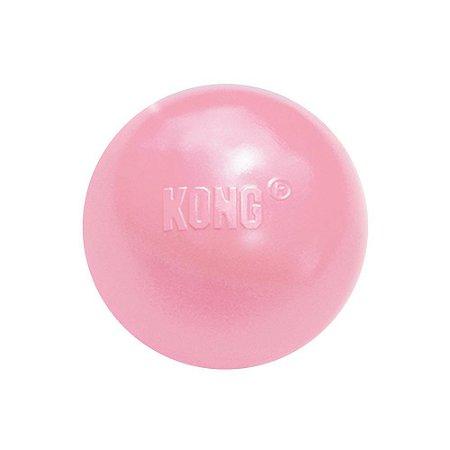 Brinquedo Recheável Kong Puppy Ball Rosa para Cães Filhotes